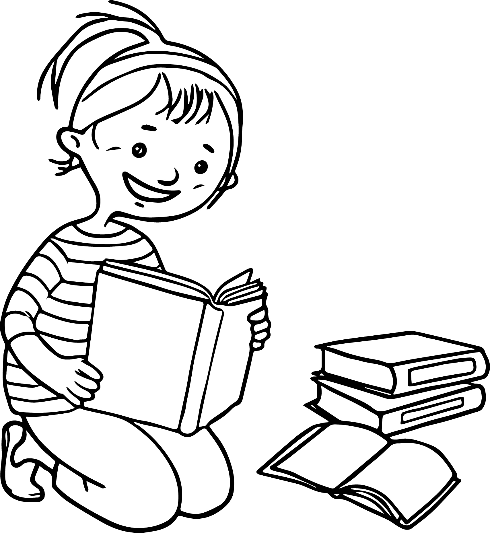Funny Cartoon Pictures For Kids To Draw Coloring Page