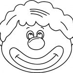 Gallery For Clown Faces Coloring Page