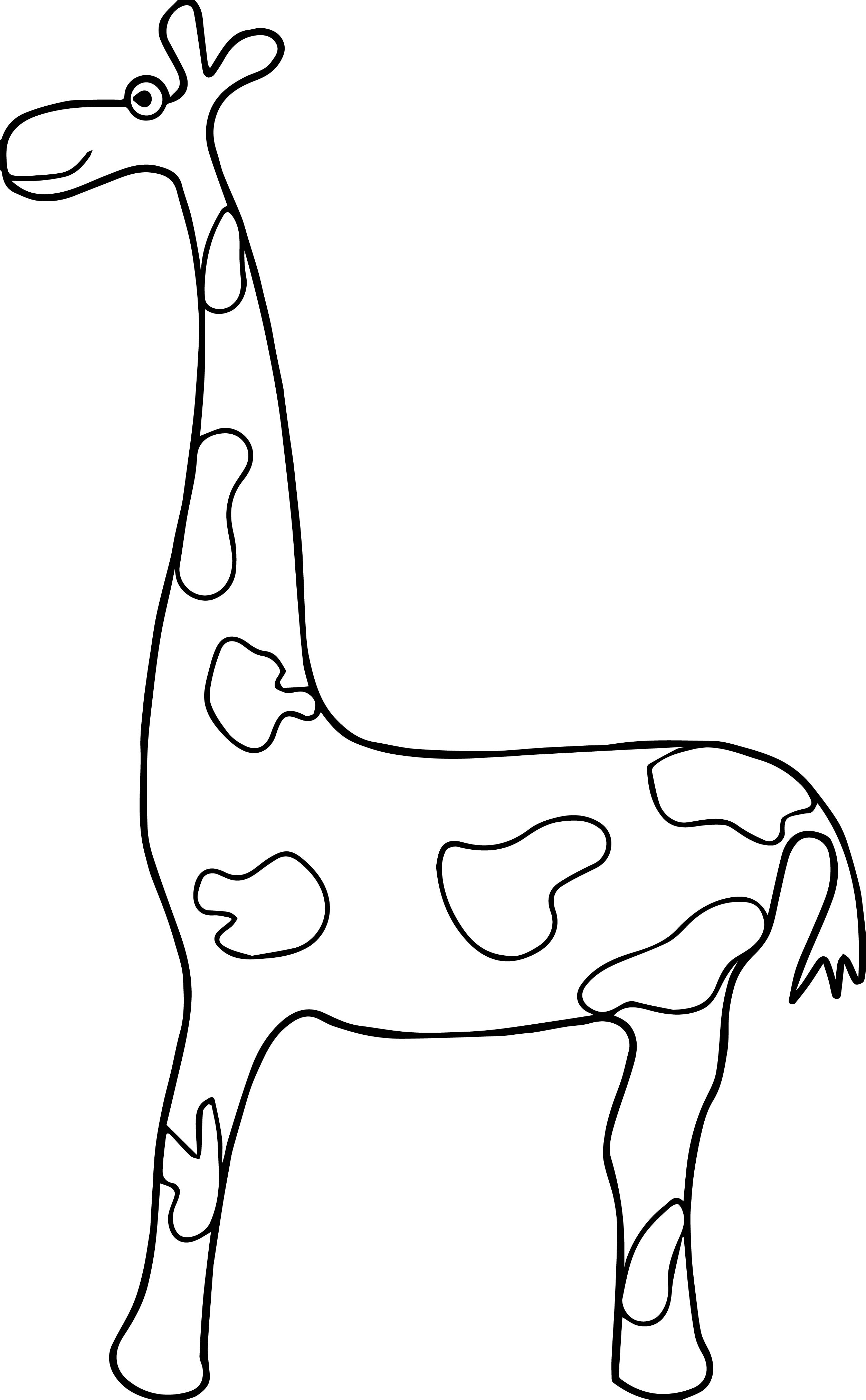 Giraffe Side Coloring Pages