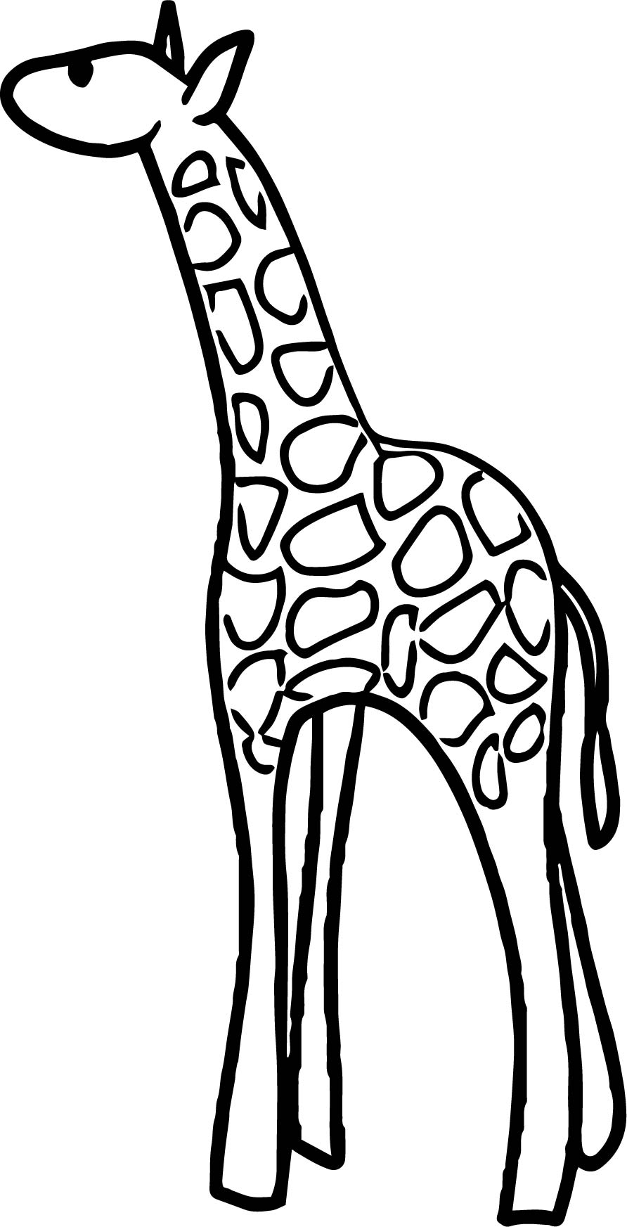 Giraffe Small Coloring Page