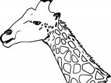 Giraffe Tall Head Coloring Page