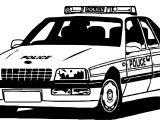 Good Police Car Coloring Page