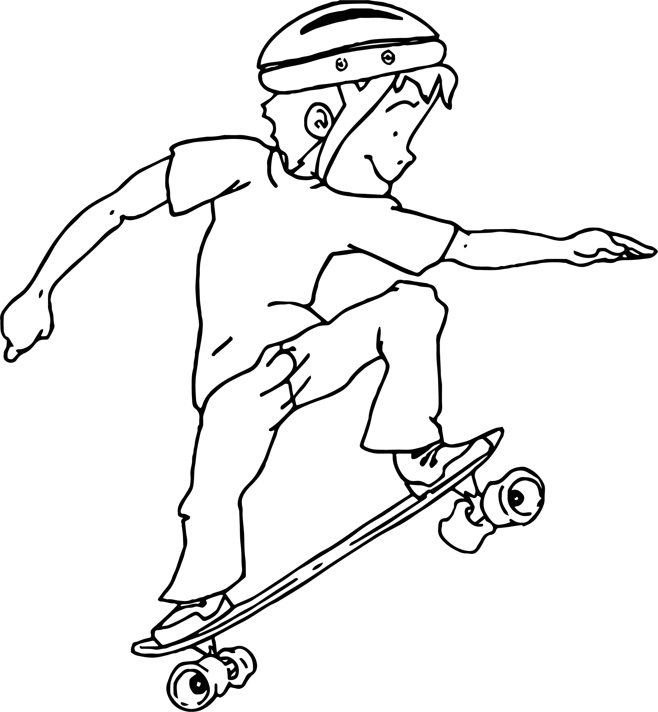 Good Skater Boy Coloring Page