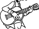 Goofy Playing Guitar Coloring Pages