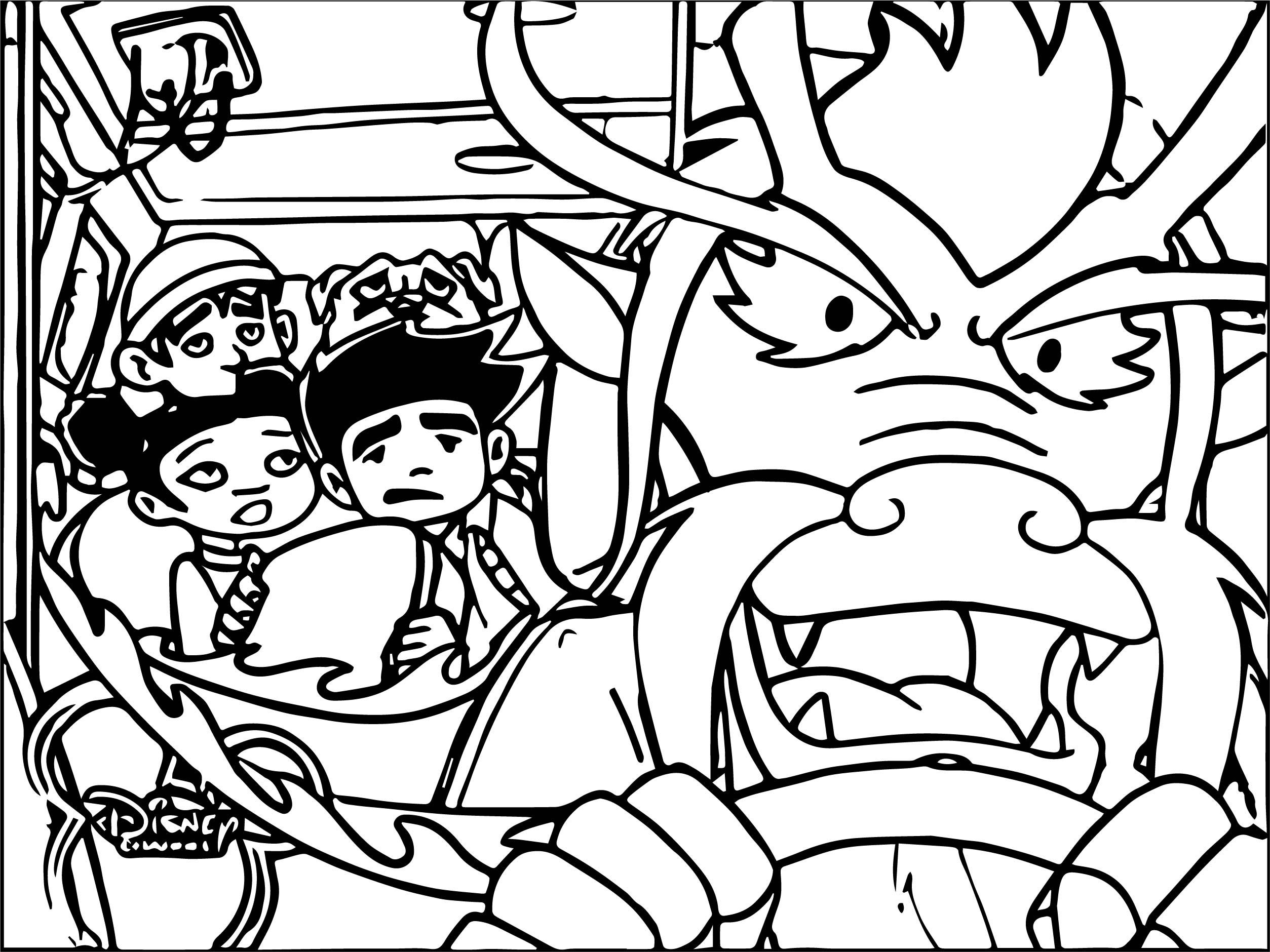 Grampa Driving Coloring Page