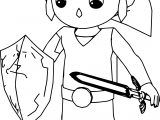Guard Girl Sword Coloring Page