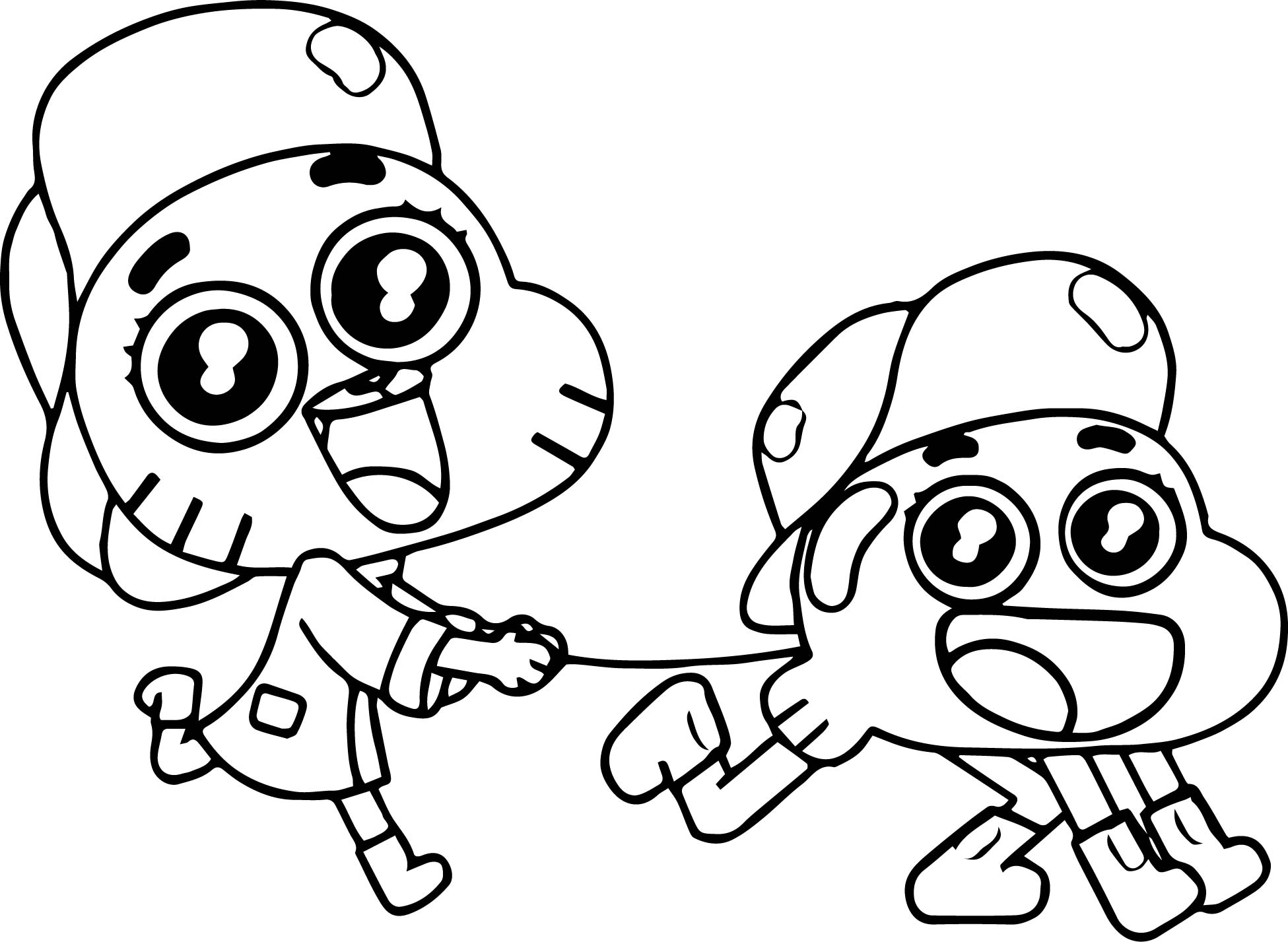 gumball darwin coloring pages - photo#19