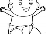 Happy Baby Boy Coloring Page