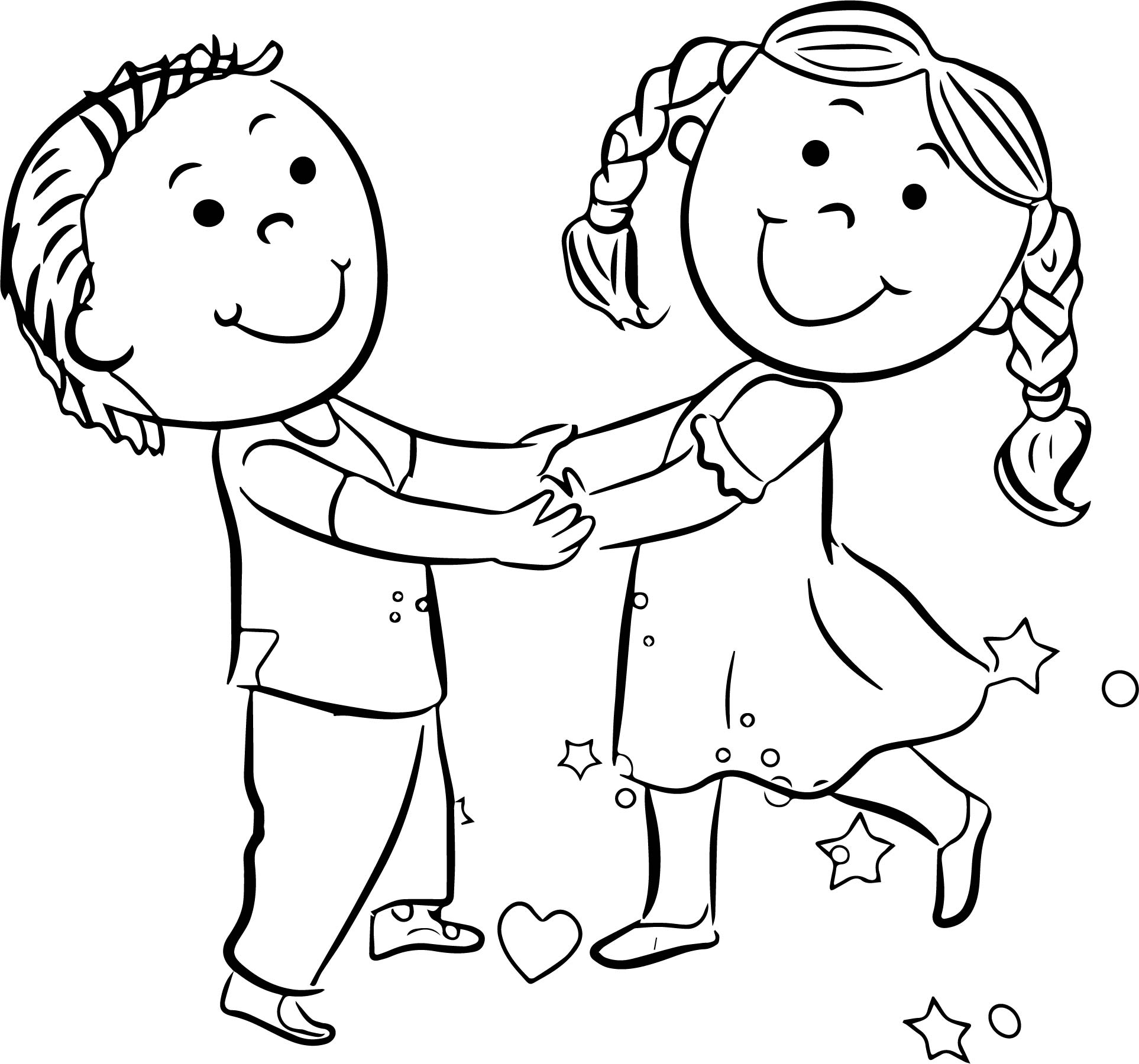 Happy Children Coloring Pages