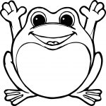 Happy Frog Coloring Page