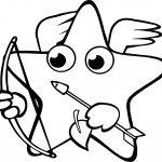 Happy Star Arrow Coloring Page