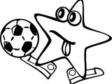 Happy Star Soccer Coloring Page