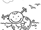 Happy Summer Duck Coloring Page