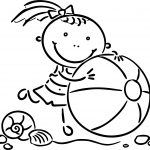 Happy Summer Girl Coloring Page