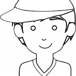 Hat Boy Coloring Page