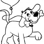 Heart Balloon Clifford the Big Red Dog Coloring Page