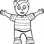Hello Hug Boy Coloring Page