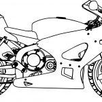 Honda Motorcycle Bold Line Coloring Page