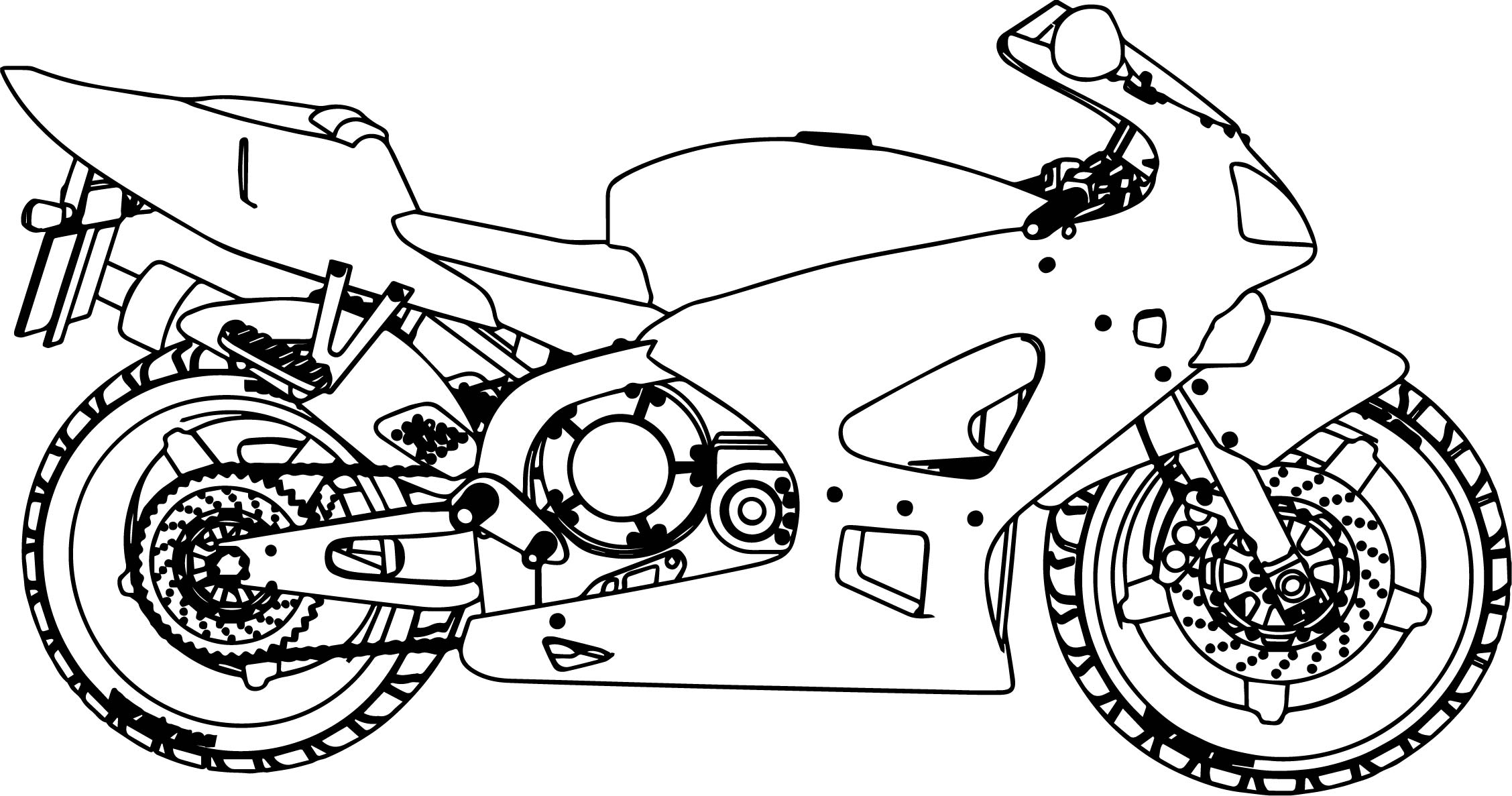 bold line coloring pages | Honda Motorcycle Bold Line Coloring Page | Wecoloringpage.com