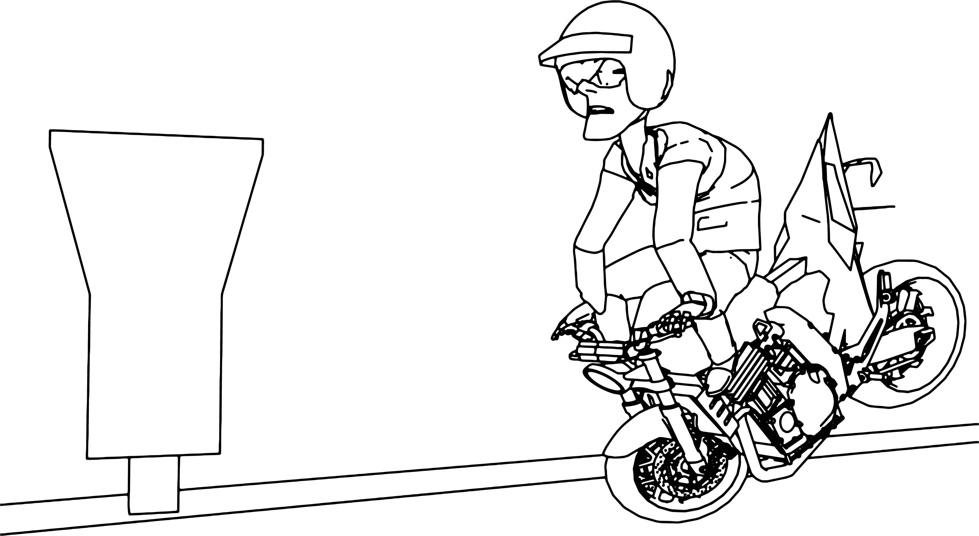 Car Crash Coloring Pages : Coloring car accident sketch page