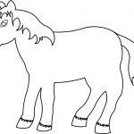 Horse Cartoon Coloring Page