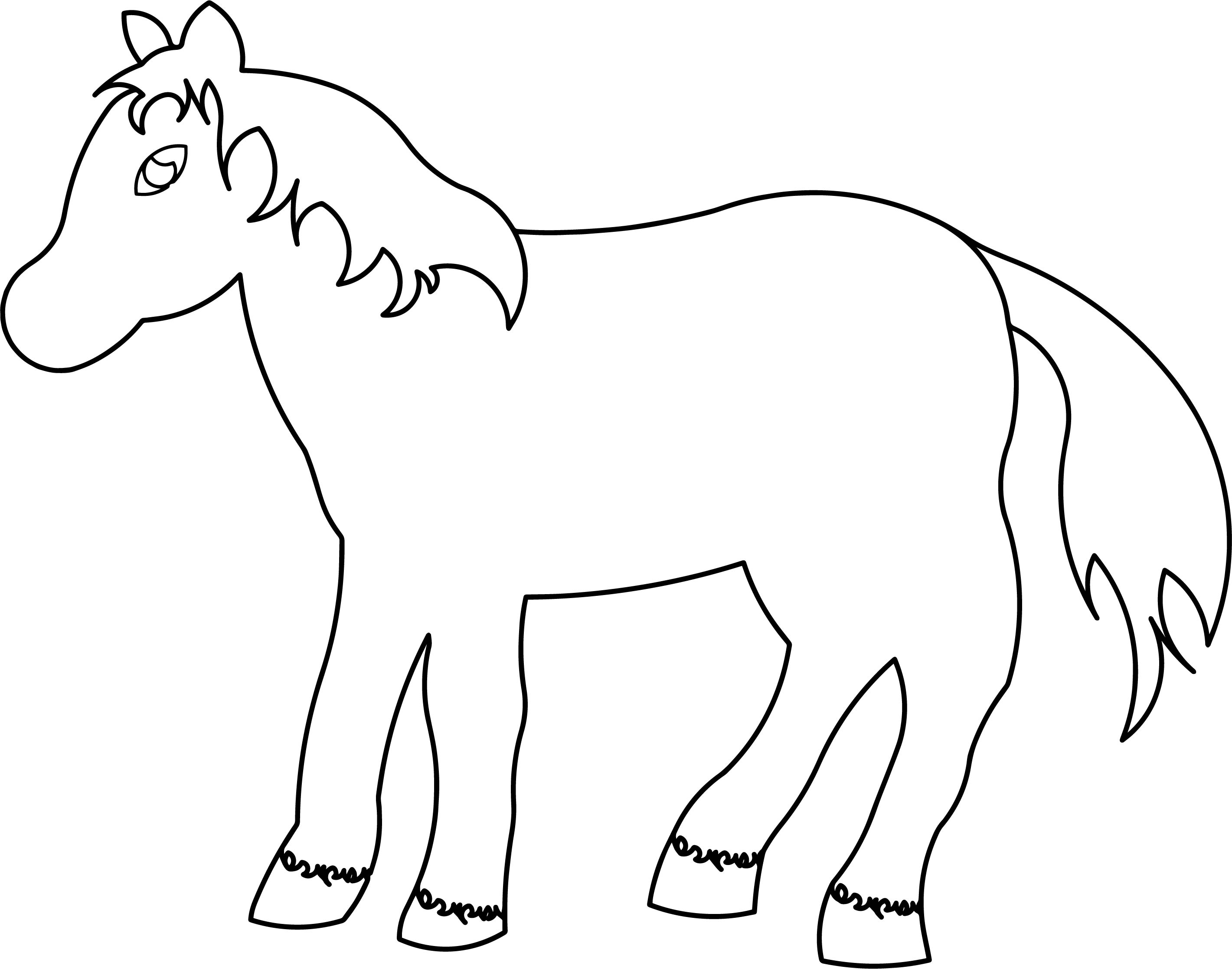Horse Cartoon Coloring Page