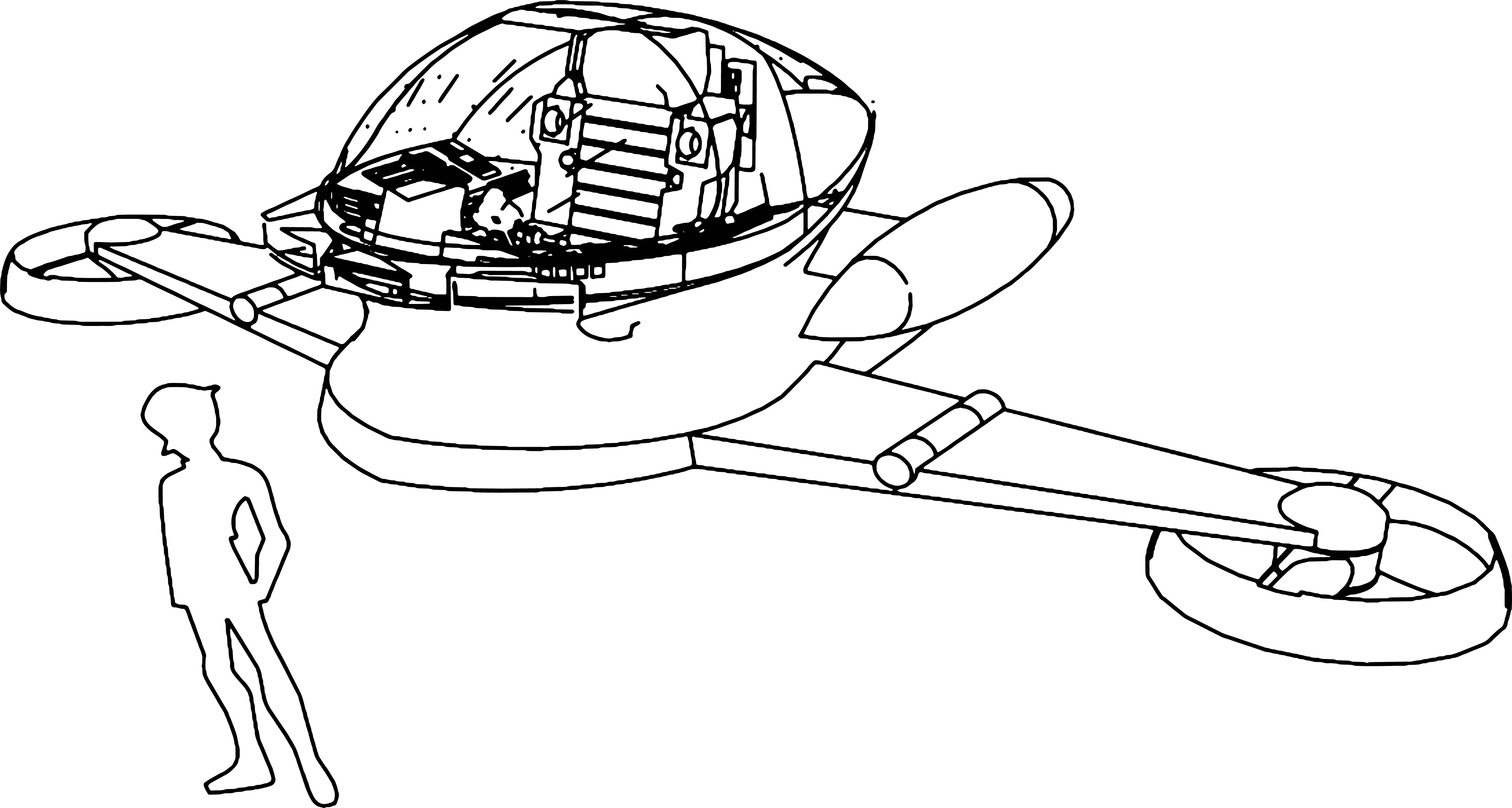 Hover Pilder Coloring Page