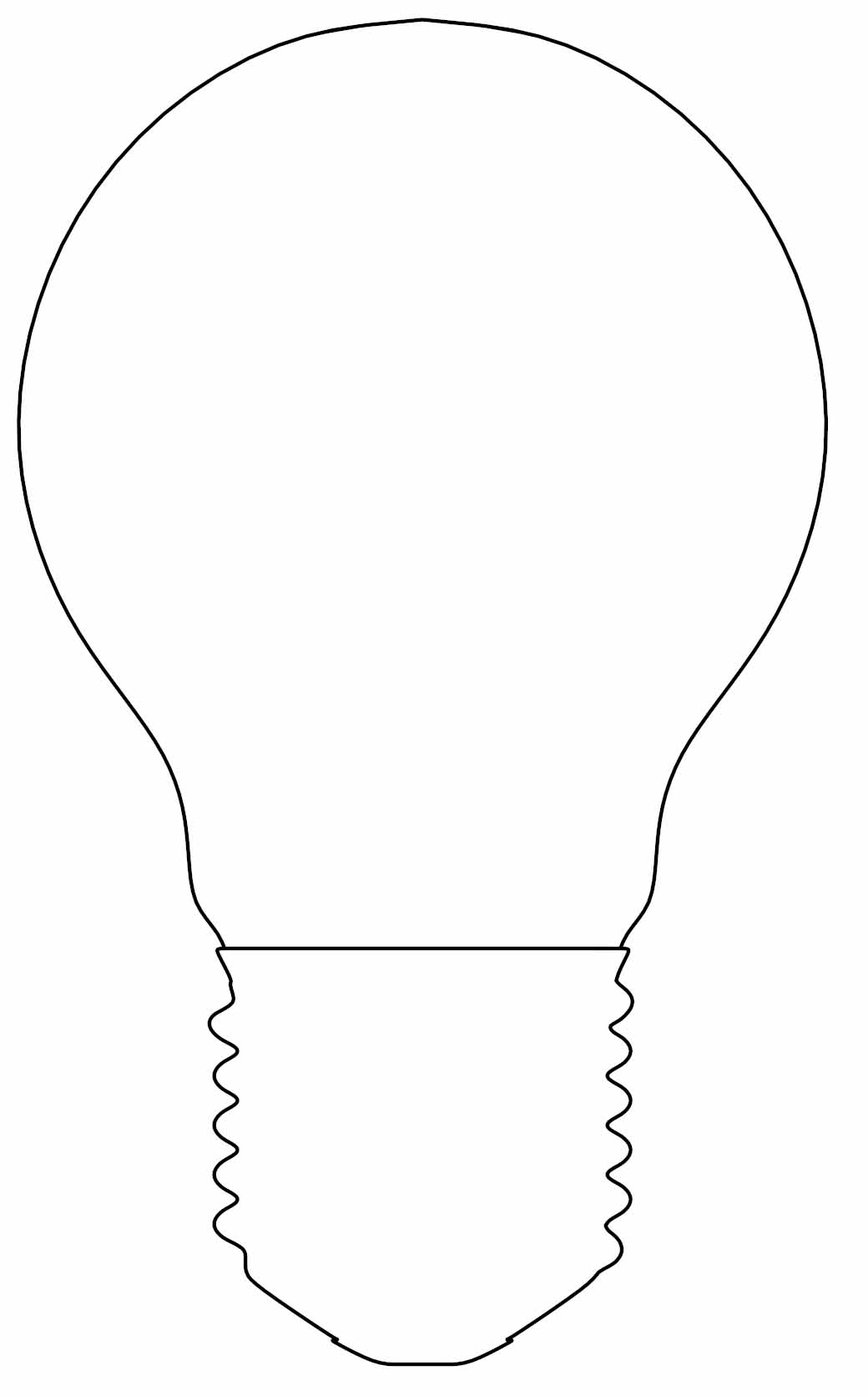 Incandescent Glass Light Bulb Outline Coloring Page