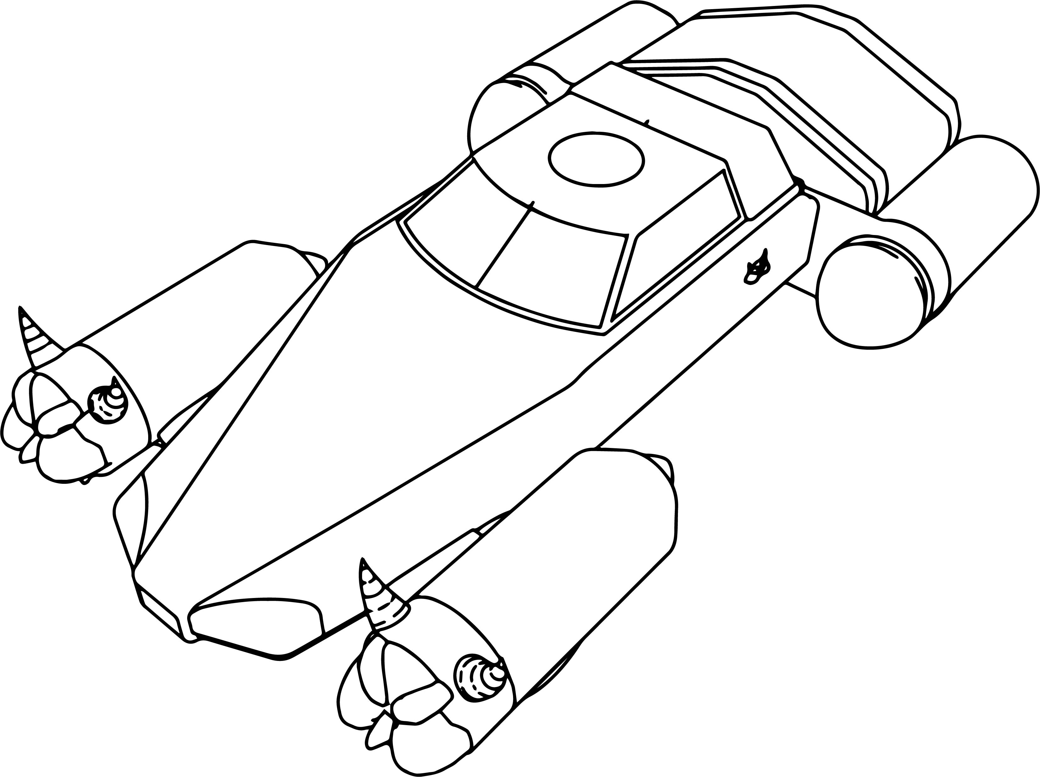 Inspector Gadget Dr Claws Madmobile Jet Sub Coloring Page