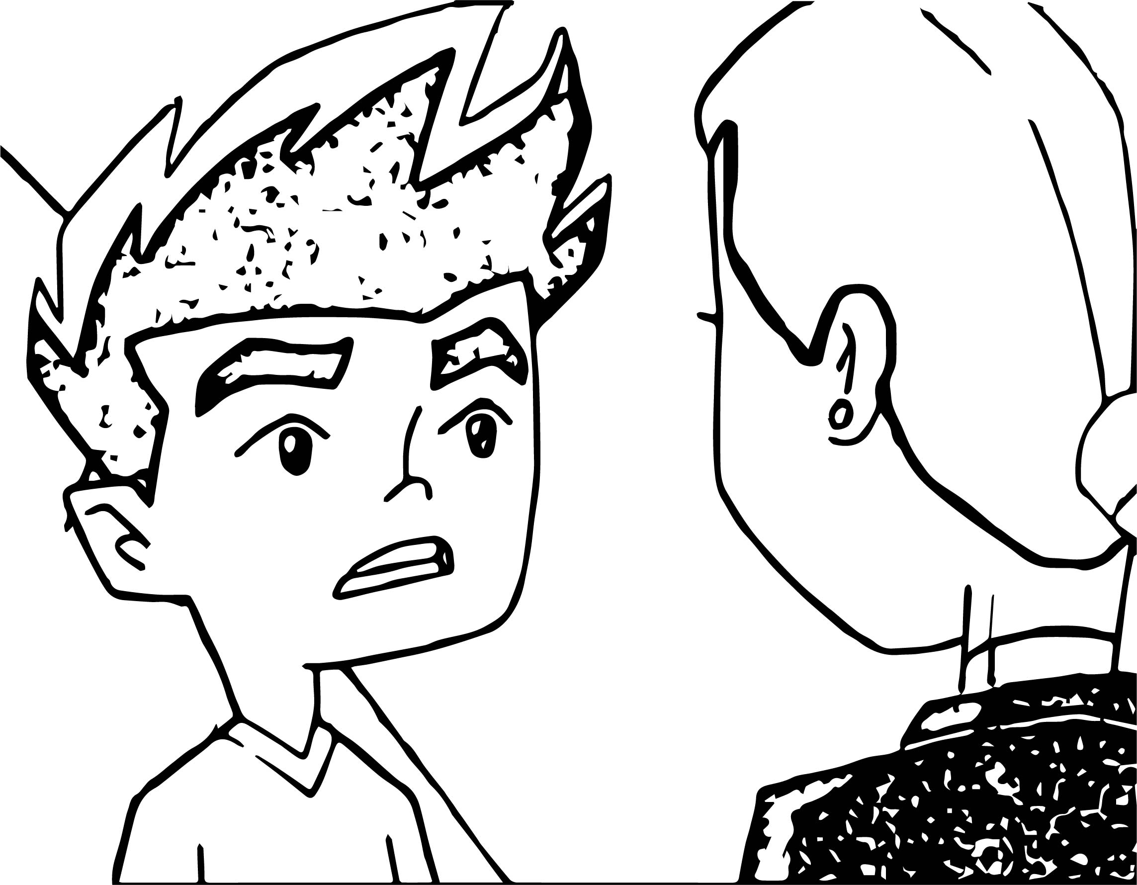 Jake And Rose American Dragon Jake Long Talk Coloring Page