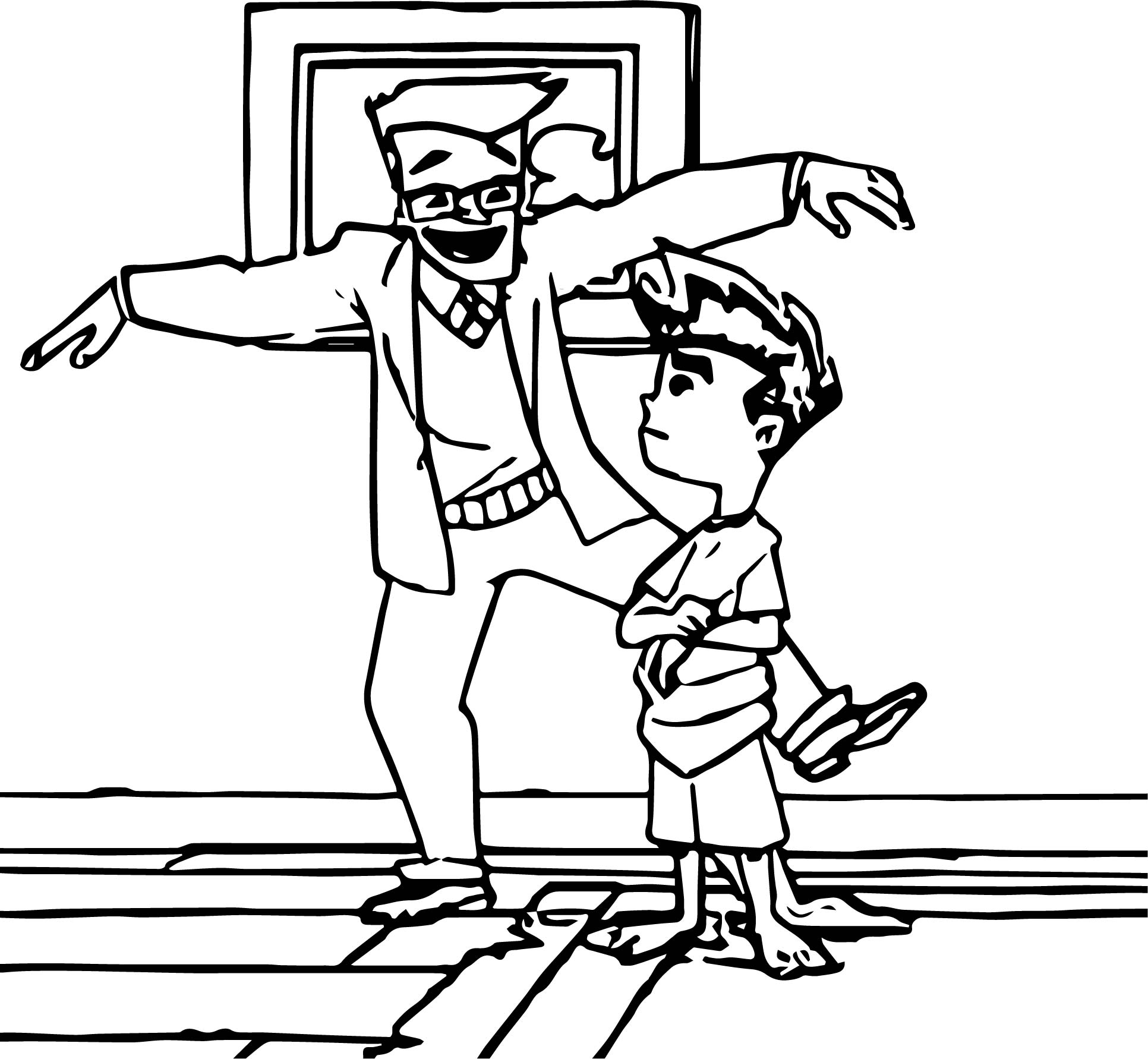 Jake At Home American Dragon Jake Long Dance Coloring Page