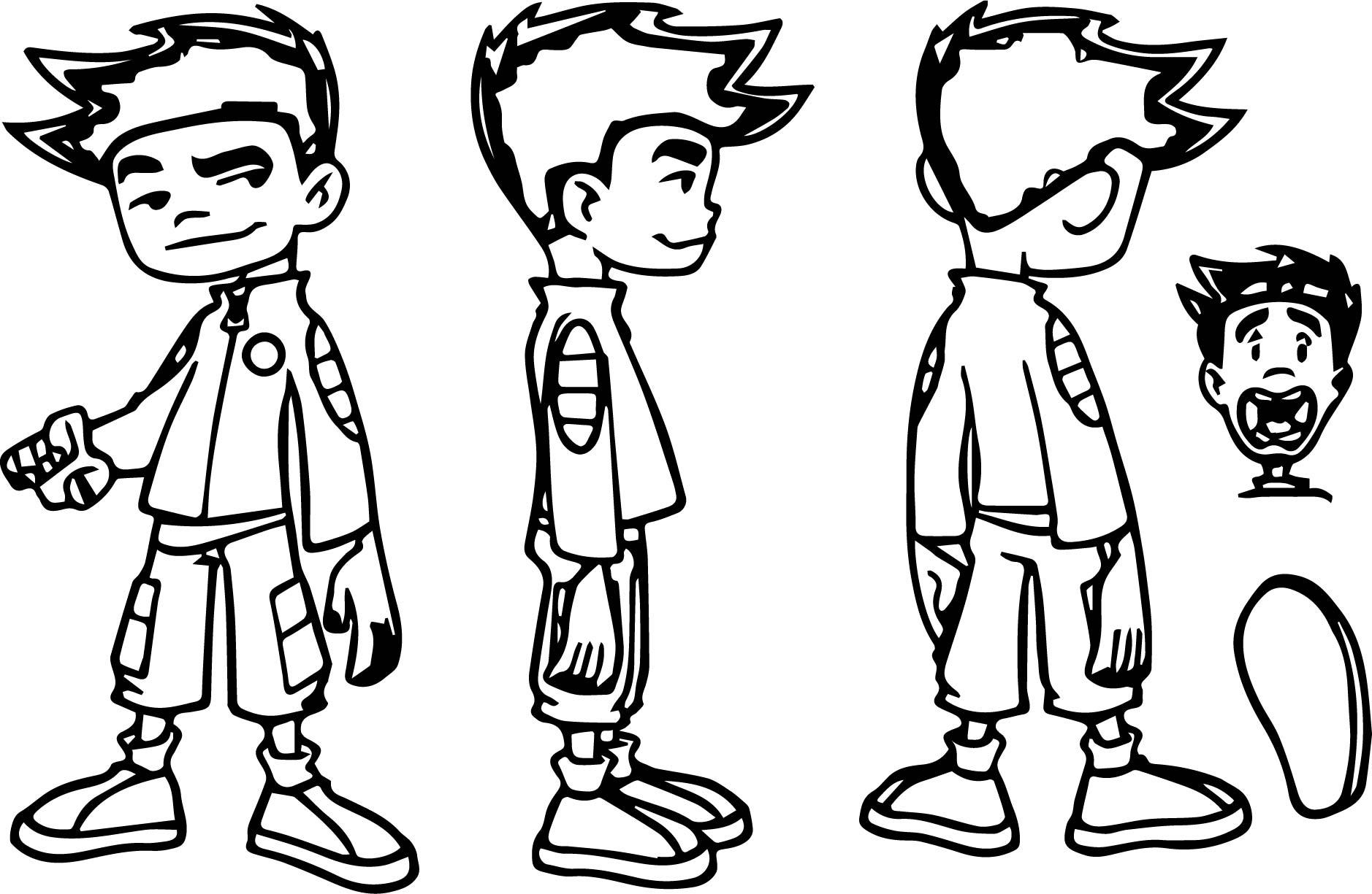 Jake Long Concept Art Coloring Page