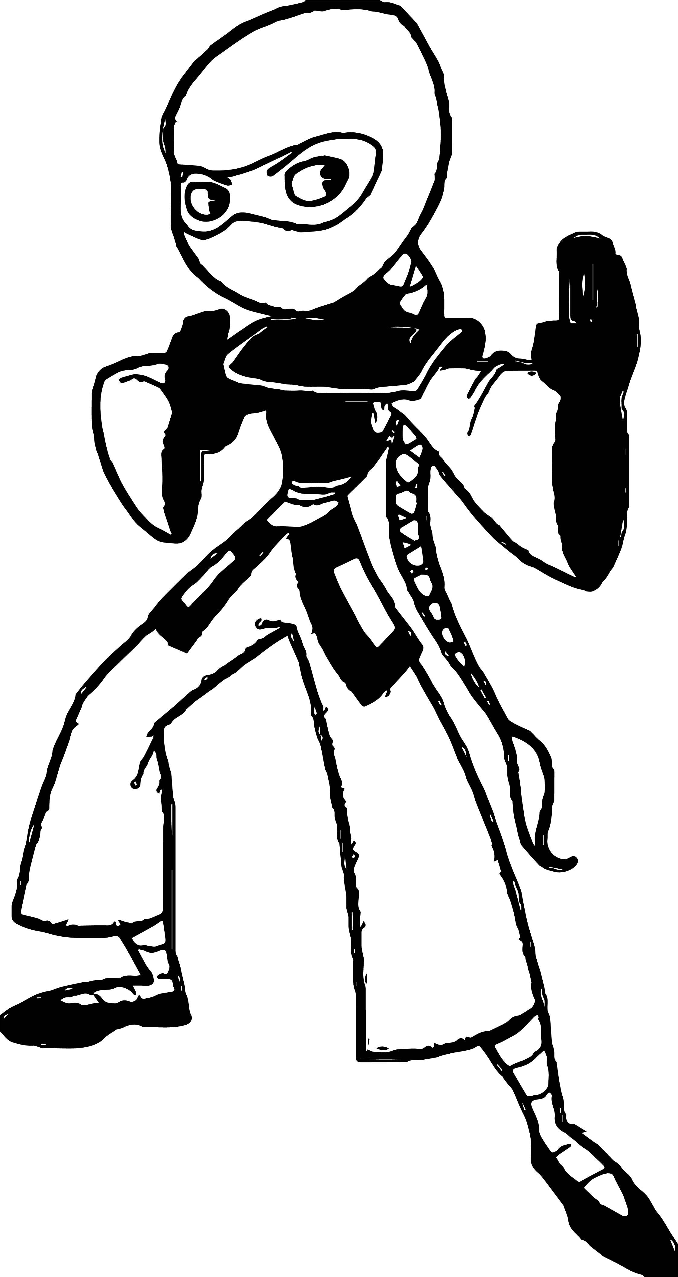 Jakel Ninja Coloring Page