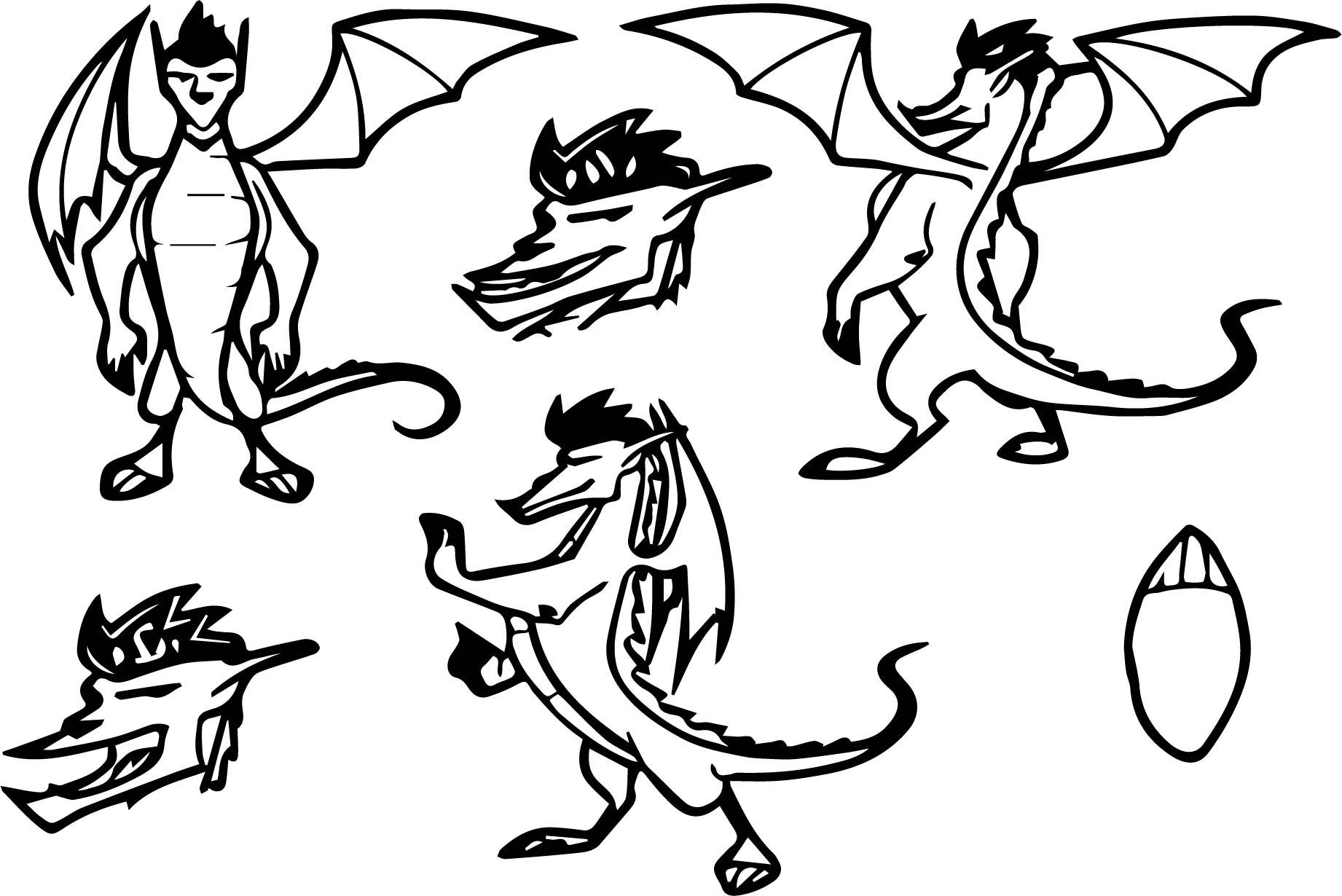 Jale Long Dragon Form Concept Art Coloring Page