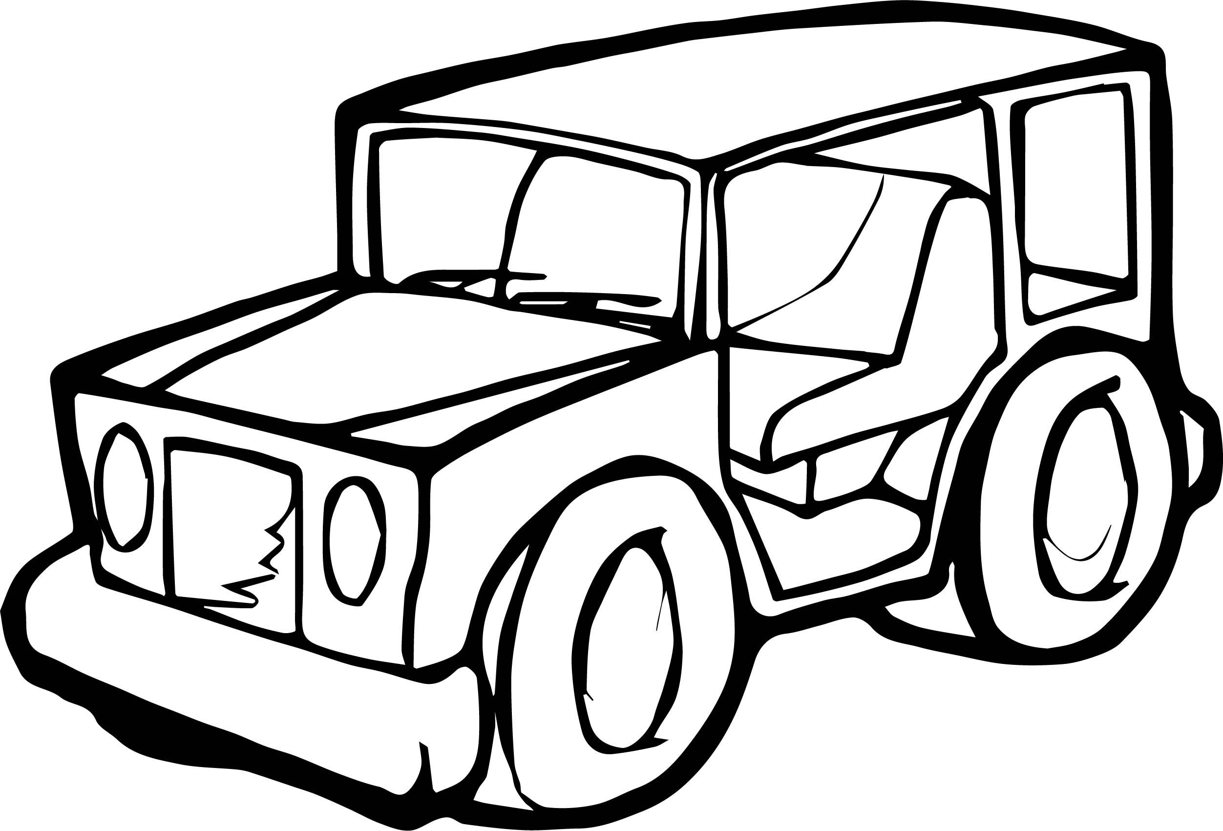 Jeep Car Coloring Page