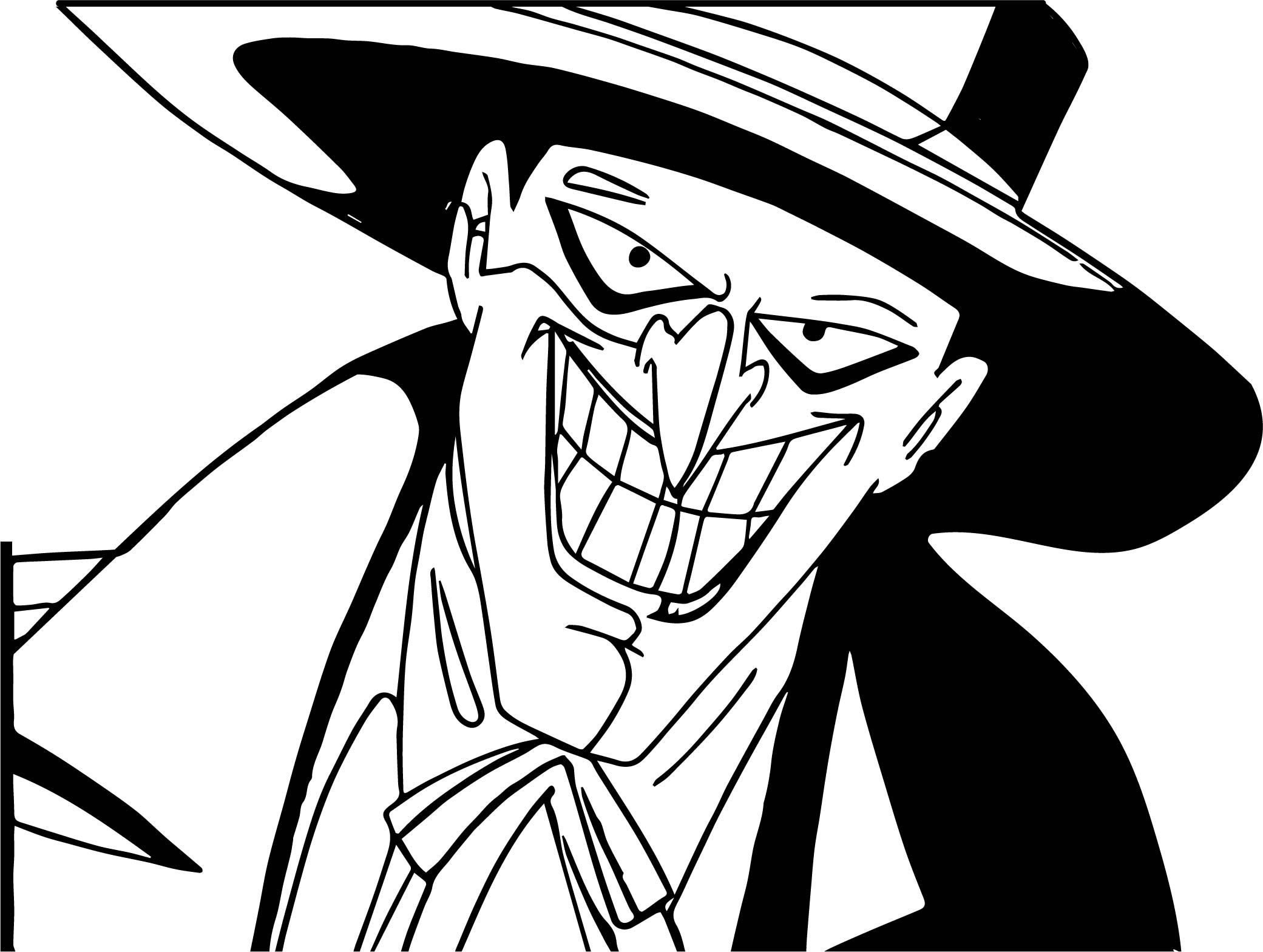 Joker Face Coloring Page Wecoloringpage