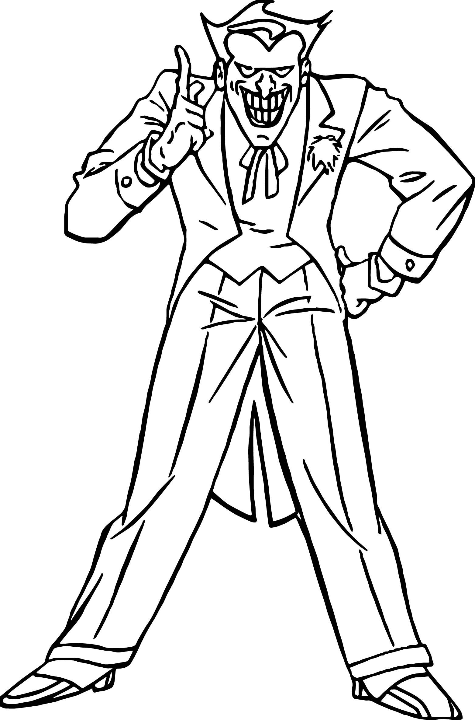 Joker From Batman Movie No No No Coloring Page