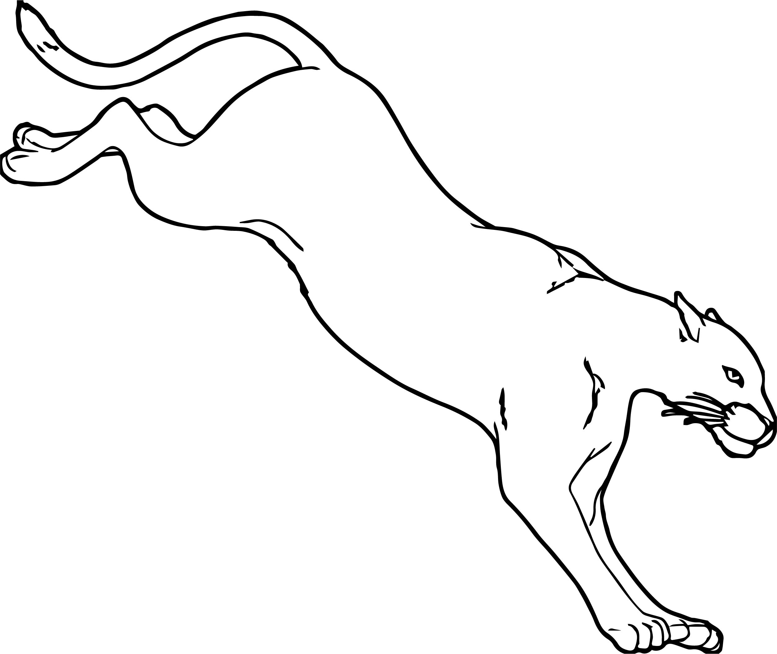 Jump And Drop Lion Coloring Page