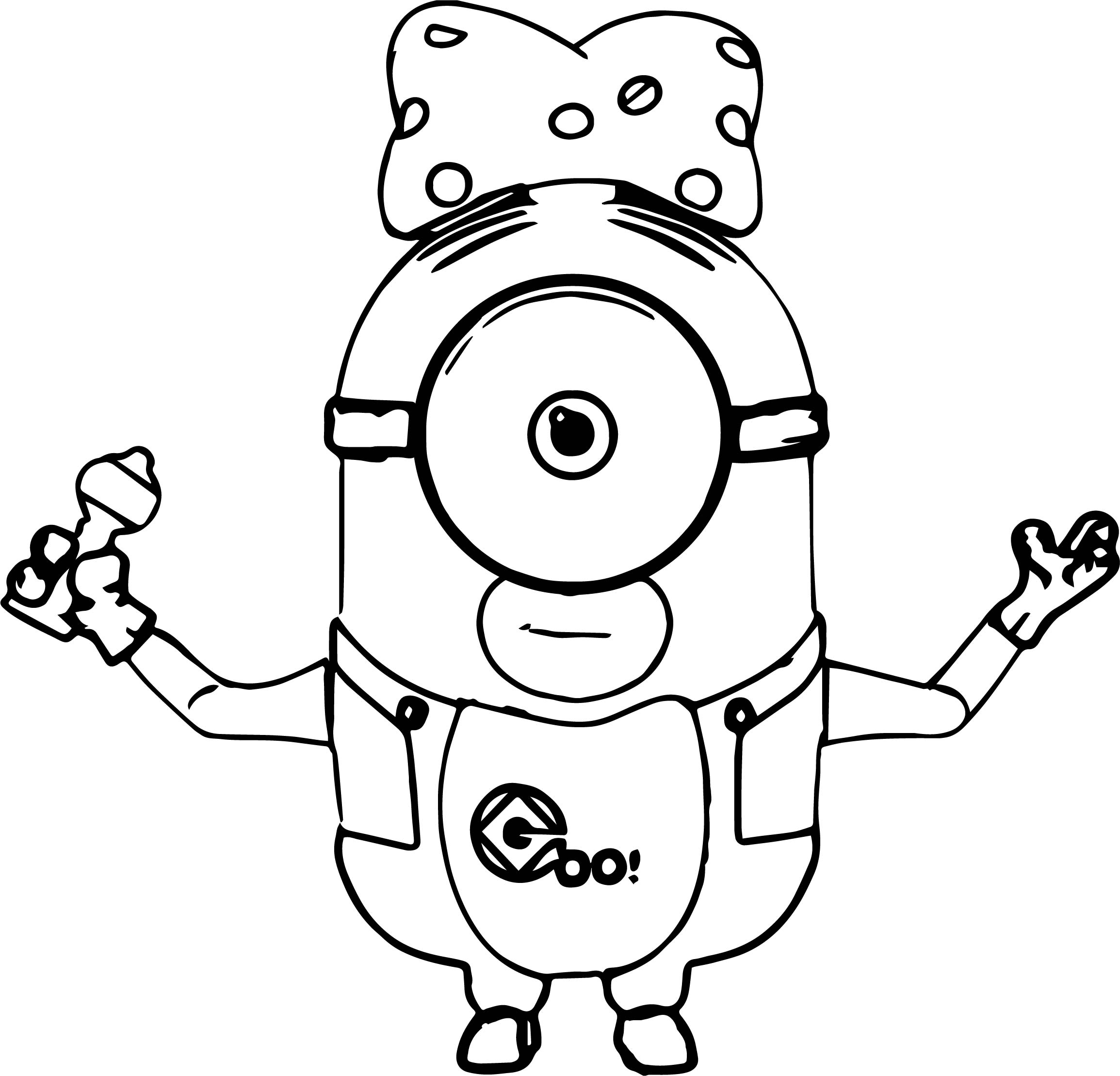 Just baby minions coloring page for Minion coloring pages free