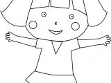 Just Child Girl Coloring Page