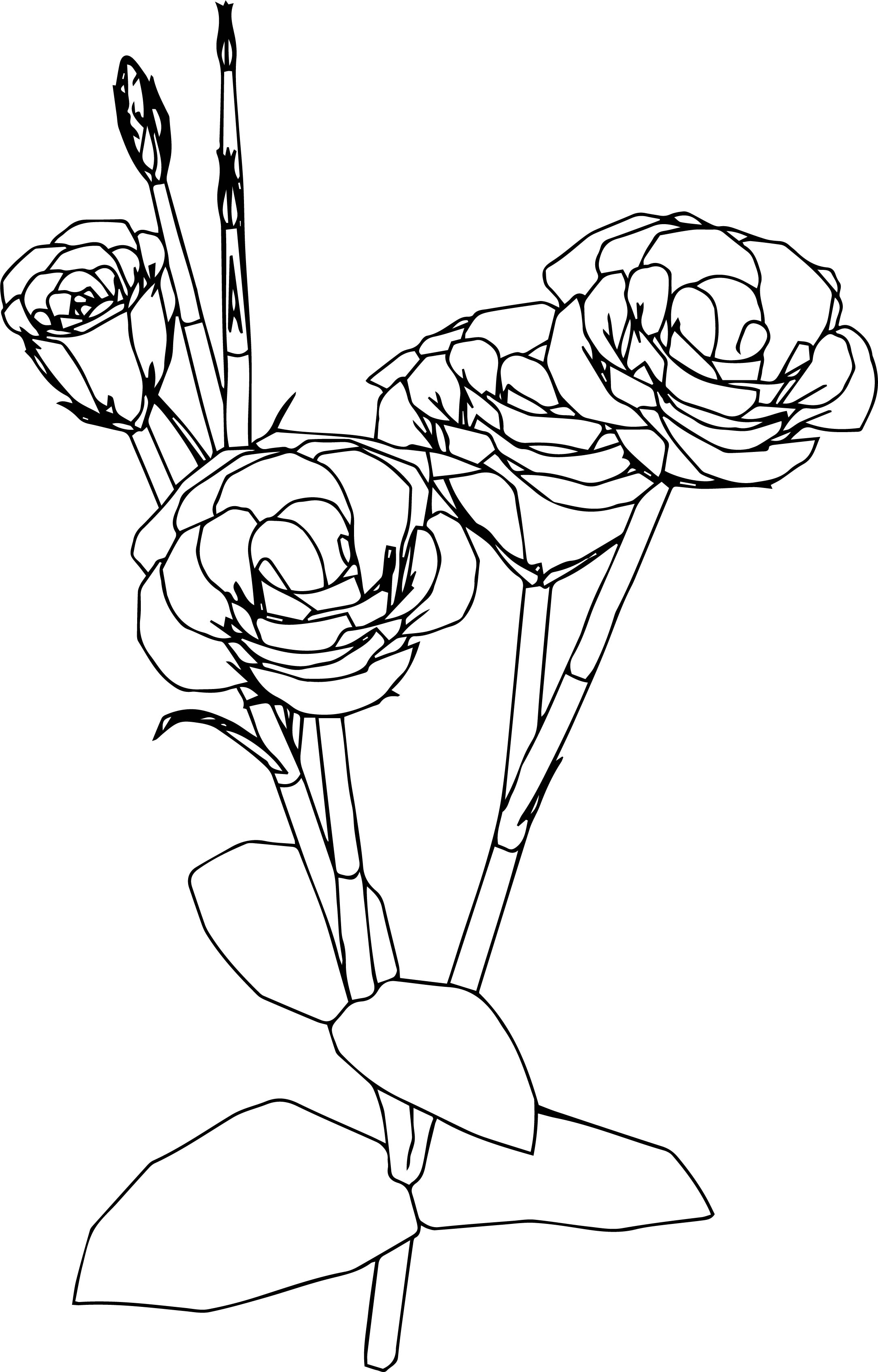 Just Flower Coloring Page
