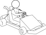 Kart Go Coloring Page