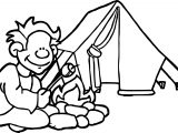 Kids Summer Camp Kids Camp Art Camping Coloring Page