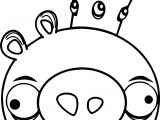 King Pig Angry Birds Coloring Page