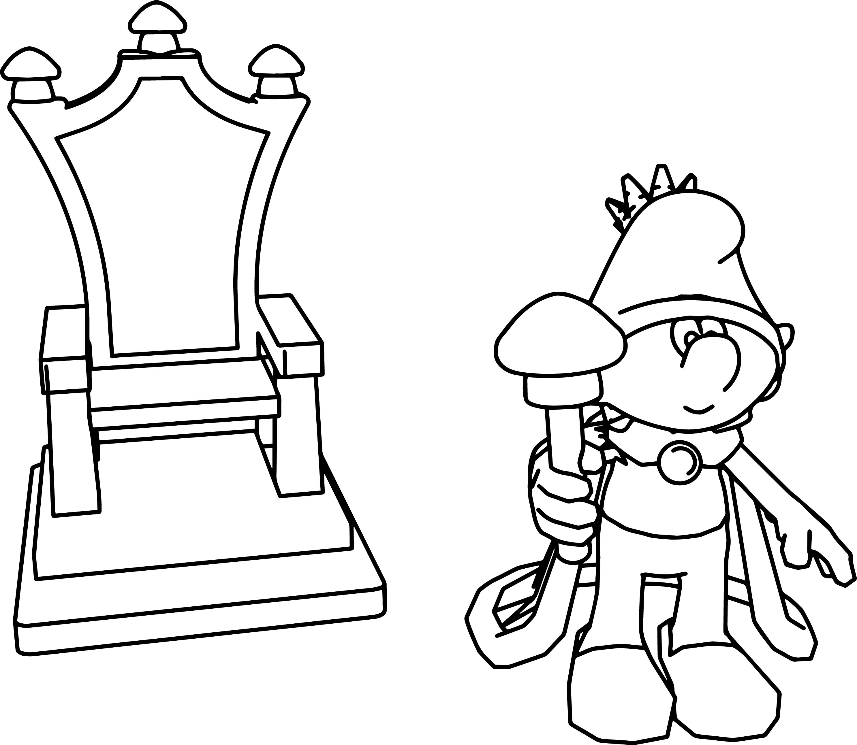 king smurf throne coloring page