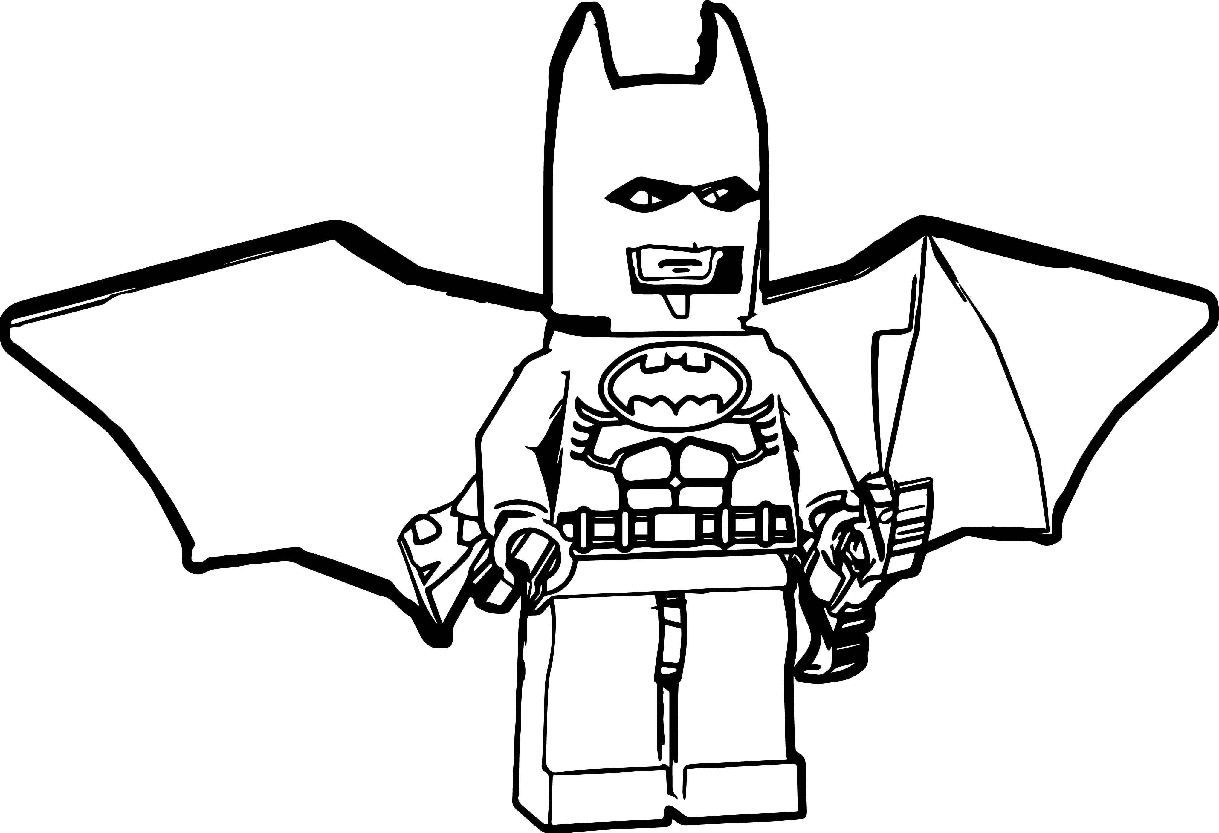 Lego Batman Side Coloring Page