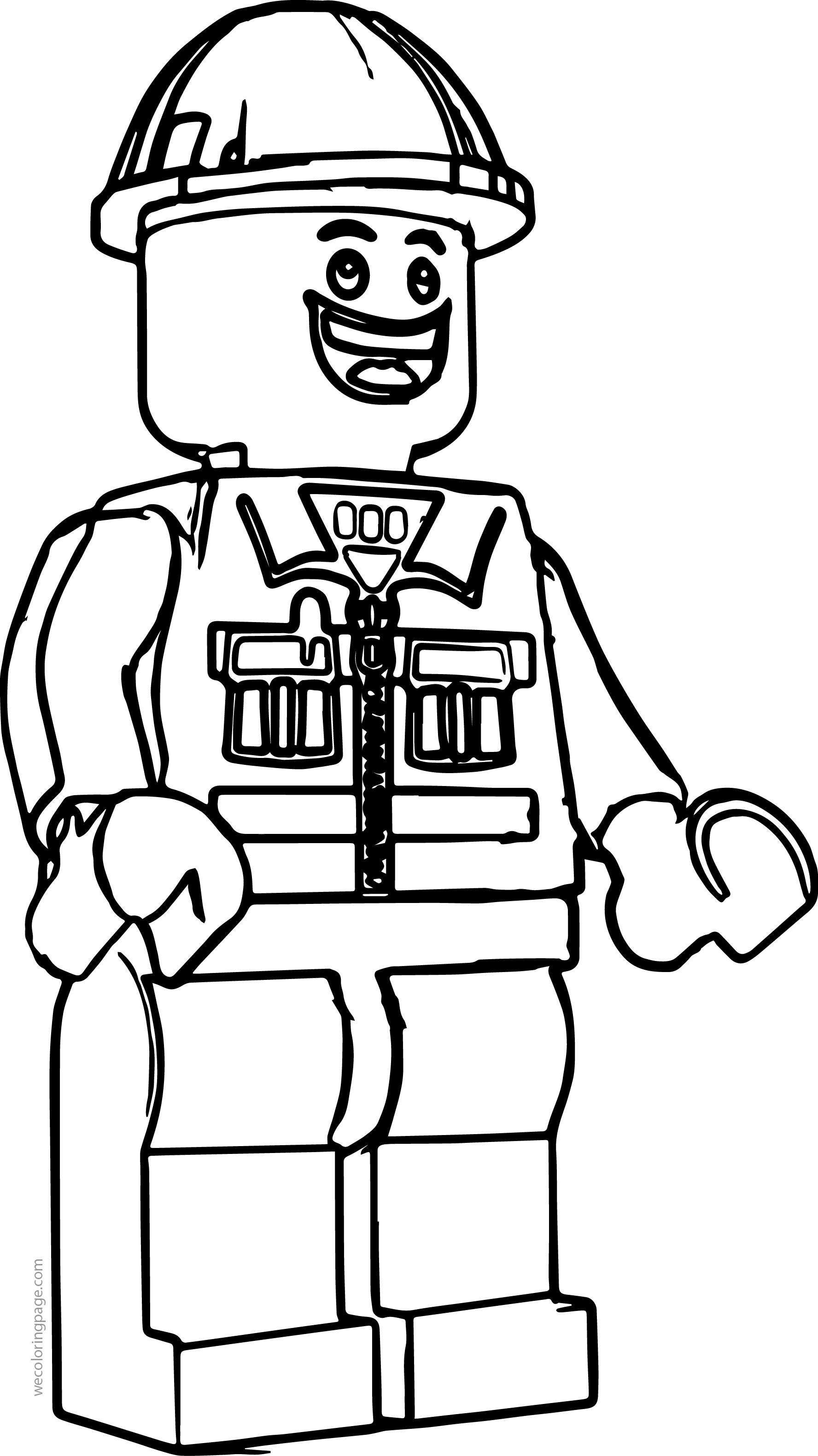 Lego Construction Worker Coloring Page | Wecoloringpage