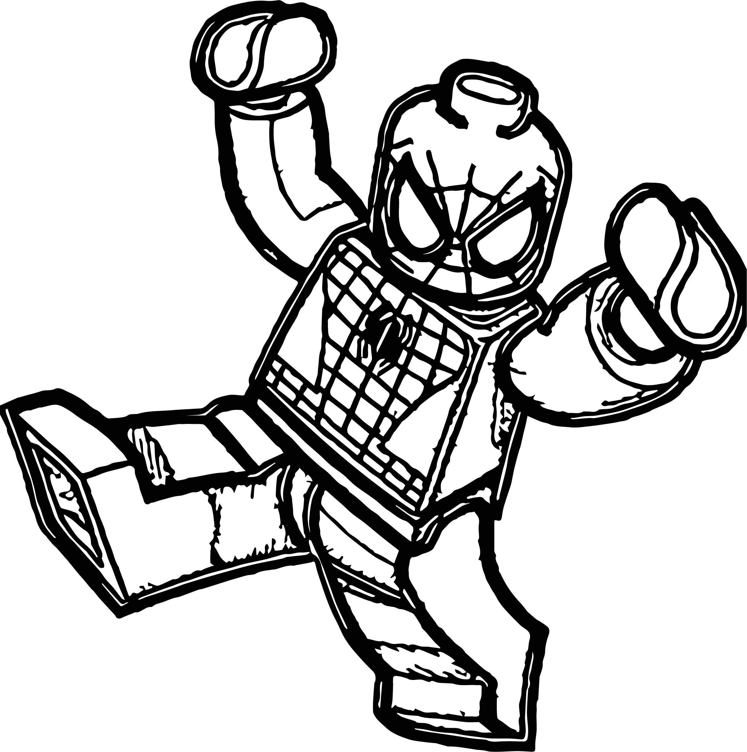 Lego Spider Man Joy Coloring Page