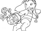 Lilo And Stitch Beach Time Coloring Page
