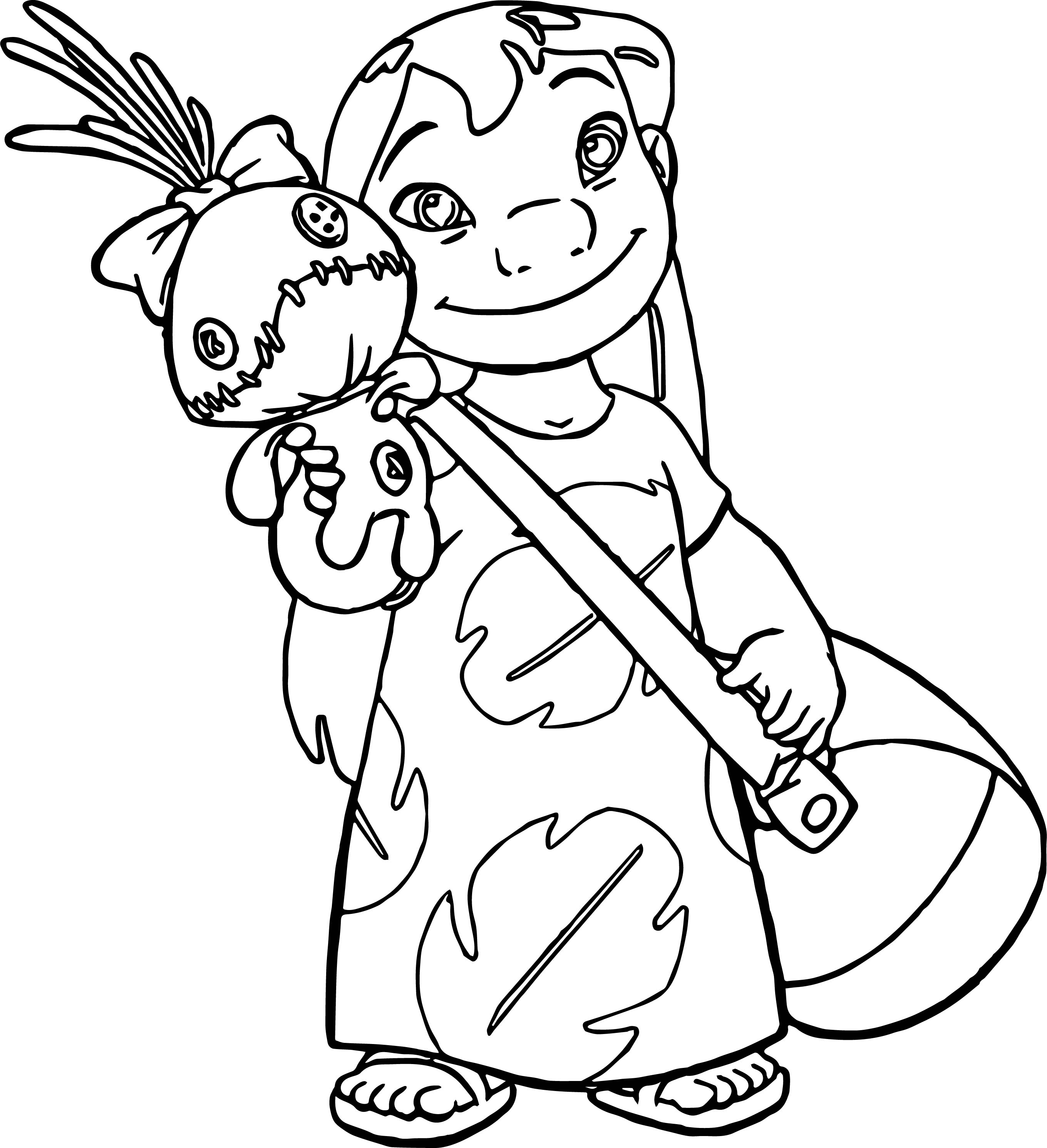 Lilo And Stitch Toy Coloring Page Wecoloringpage